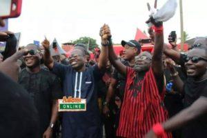 Nyanatakyi and Songo exhibit signs of unity