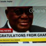 Fake Ghana congratulatory message to Weah's opponent