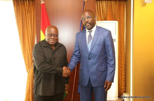 Nana Addo congratulates Weah on Liberia election victory