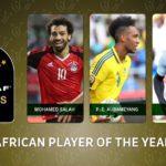 Mo Salah, Sadio Mane and P.E Aubameyang make final top three for coveted 2017 AFOTY award