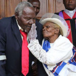 PHOTOS: Couple marry after living together for 64 years