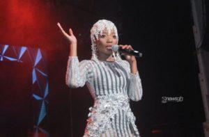 Photos: Efya steps  down as headlining artiste for Girl Talk Concert