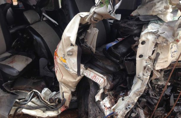 Three killed as car crushes and somersaults
