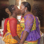 Photo: 2 Ghanaian lesbians marry in Holland