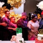 PHOTOS: Dele Momodu throws lavish birthday party for wife