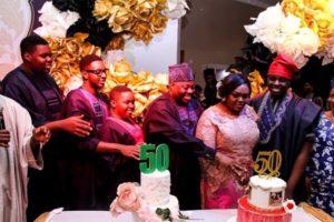 PHOTOS: Dele Momodu throws lavish birthday party for wife
