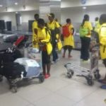 Black Maidens return home from Gambia