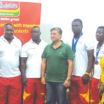 Black Cranes present medals to sponsors