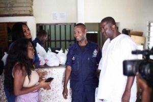 Nana Aba Anamoah, Sandra Ankobiah spend Christmas at Police Station|Photos