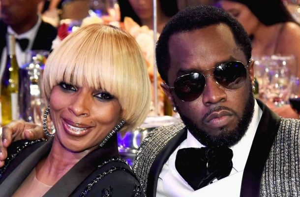Diddy gifts Mary J. Blige with a diamond scarf for her birthday