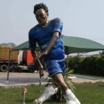 Social media users mock Michael Essien's dodgy statue