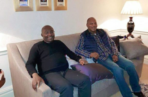 PHOTOS: Ex-NDC minister and UN chief Ibn Chambas visits Bawumia in London