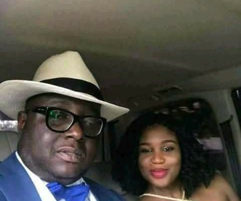 PHOTO: Ghana's High Commissioner to India 'chilling' with scantily dressed lady