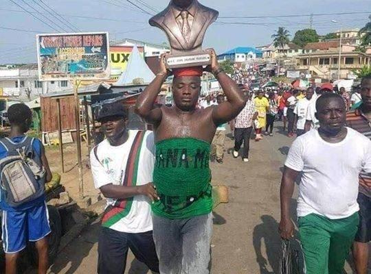 PHOTO: Appiah Stadium carries Mahama's statue