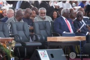 PHOTOS/VIDEO: Rawlings, Mahama reconcile differences in Liberia