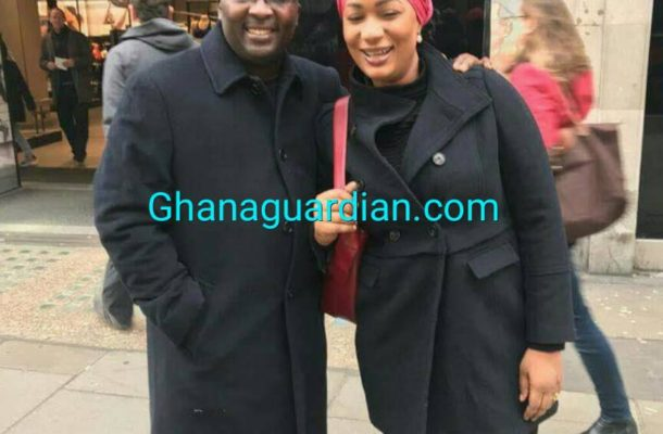 PHOTOS: Ghana Vice President Bawumia spotted walking in London in good health