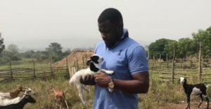 PHOTOS: John Dumelo turns goat farmer