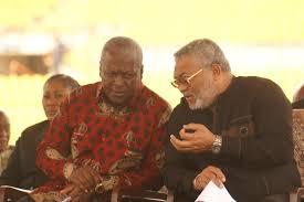 VIDEO: Mahama hugs Kufuor, snubs Rawlings