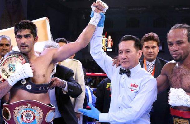 Indian boxer Vijender rises in WBO rankings for beating Ghanaian Amuzu