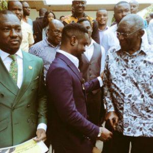 PHOTOS: Ex Prez Kufuor meets Sarkodie, Nana Aba Anamoah, Joselyn Dumas