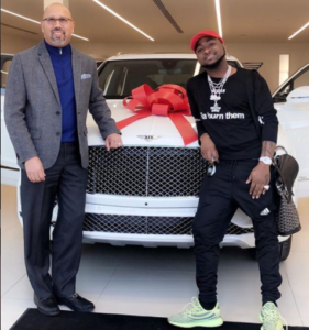 PHOTOS: Davido splashes $250,000 on Bentley and watch in USA to be shipped to Nigeria