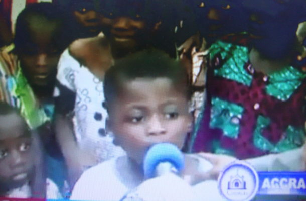 VIDEO: 'I'm a womanizer'; 7-year-old Ghanaian boy tells pastor