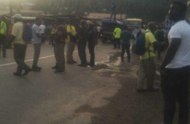 Tarkwa: Mine workers demo against Gold Fields