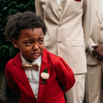 Boy, 6, cries uncontrollably as his mother walks down the aisle on her wedding day