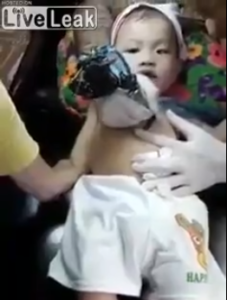 Viral video of a baby getting tattooed sparks outrage