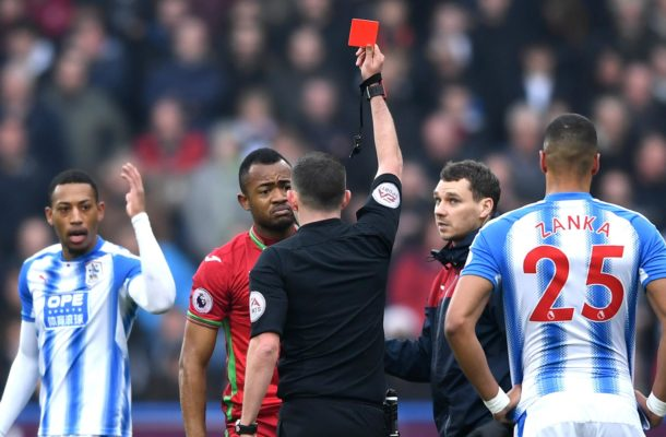 Sky Sports' refereeing expert gives his verdict on Jordan Ayew's red card