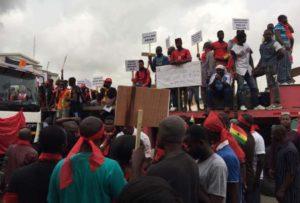 PHOTOS: Amissah Arthur, Ablakwa, Ofosu Kwakye, Others hit road for anti-defence deal demo