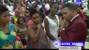 VIDEO: Lady carries Obinim on her back after his precise prophecy