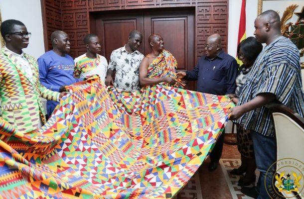 Kente Weavers Association honour Prez Akufo-Addo for fulfilling promises