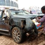N/R: Bugri Naabu tows 'accident' SUV to NPP elections ground