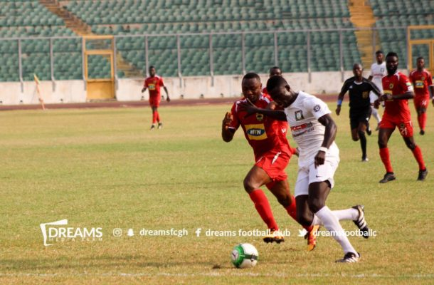 Dreams FC leave it late to stun Kotoko