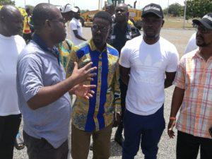 PHOTOS: Zylofon Boss Nana Appiah Mensah visits Ghanaman Soccer Centre Of Excellence