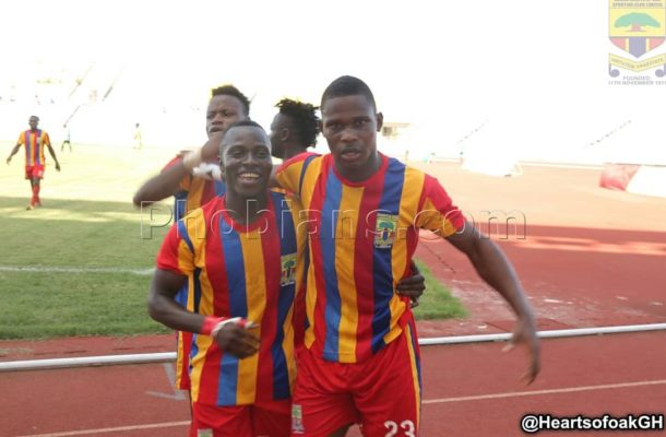 Hearts 1- 1 Bechem United: Patrick Razak late goal rescues Phobia