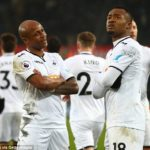 Ayew brothers reunite to save Swansea City from relegation