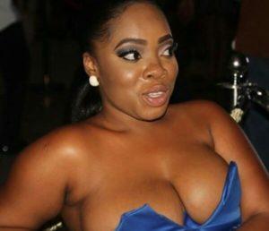 PHOTOS: Moesha Boduong flaunts her boobs in revealing dress