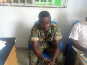Fake soldier busted in Kasoa
