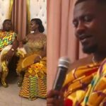 VIDEO: Here is a cute video of John Dumelo singing for his wife Mawunya at their Wedding