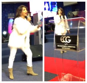 PHOTOS/VIDEO:  Actress Tonto Dikeh turns pastor, ministers in South Africa Church