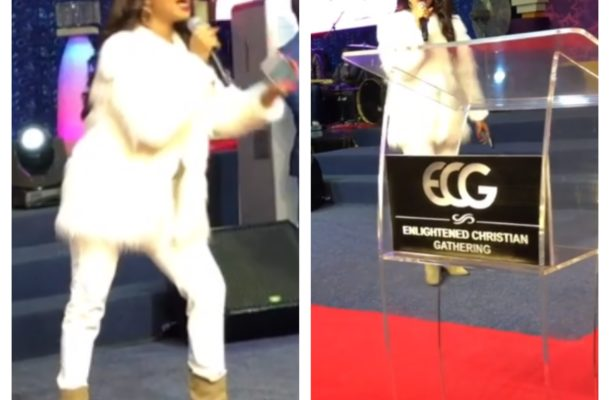 PHOTOS/VIDEO:  Actress Tonto Dikeh turns pastor, ministers in South Africa Church