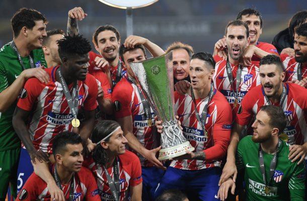 Thomas Partey wins UEFA Europa League title with Atletico Madrid