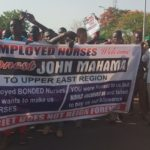 Disgruntled jobless nurses join Mahama at NDC Unity Walk