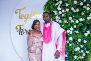 Official Photos of Actor John Dumelo and Gifty Mawunya's Traditional Engagement