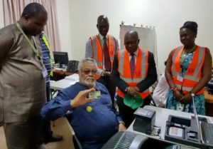 Photos: Ex Prez Rawlings registers for his Ghana Card