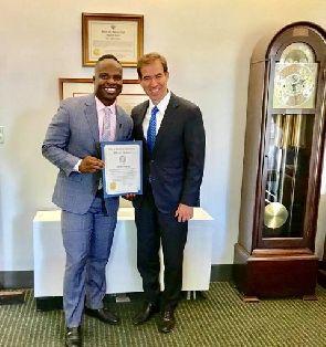 Mayor Luke Bronin honours Ghana's Akwesi Frimpong