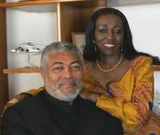 Rawlings, Nana Konadu greet Muslims