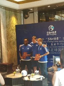 PHOTOS: Essien on tour with Spain legend in China
